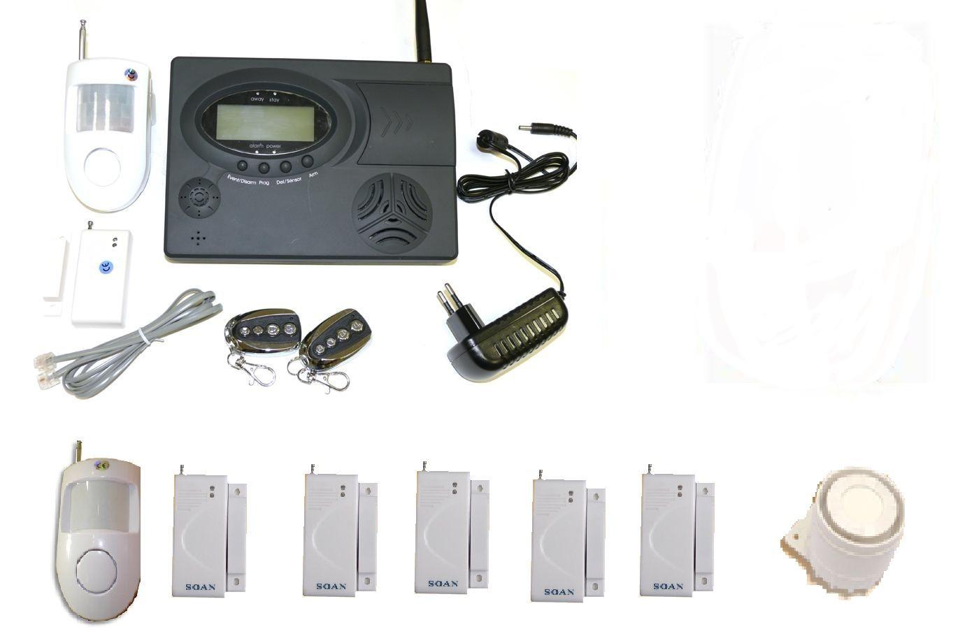 Allarme antifurto casa negozio kit gsm personalizzato - ::: - pcSys.it - ::: - Vendita ...