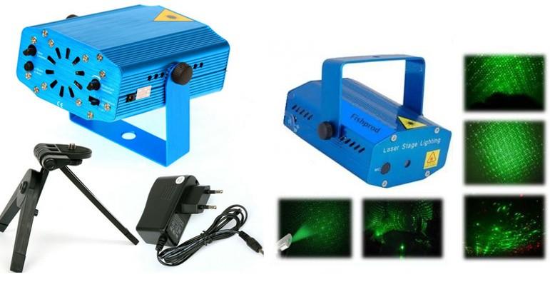 Mini Proiettore Effetto Luci Laser Per Disco Discoteca Dj.Proiettore Laser Shopping Acquea