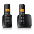 TELEFONO PHILIPS CORDLESS CD1802B/23 DUO Display Alfanumerico Identificativo Chiamate 10 Suonerie 50 Nominativi in Rubrica