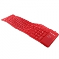 TASTIERA NILOX IN SILICONE PS2/USB 2.0 BRK8000 Red