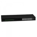 SWITCH ATLANTIS A02-F16 16P LAN 10/100M L2 UNMANAGED RACKMOUNT CASE METALLO - GREEN ETHERNET