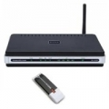 BUNDLE D-LINK DKT-710 ROUTER ADSL2/2+ ACCESS POINT SWITCH 4P + CLIENT WIRELESS USB