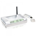 BUNDLE ATLANTIS A02-WS1 ROUTER ADSL2+ A02-RA141-W54 SWITCH 4 LAN AP FIREWALL + CLIENT WIRELESS USBA02-WS1