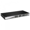 SWITCH D-LINK DES-1210-28 24P LAN 10/100M Fast Ethernet Smart Switch + 2 Combo 1000 BaseT/SFP + 2 Gigabit