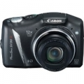 "FOTOCAMERA CANON SX130IS BLACK 12Mpx 12X IS Motion & Face Detection Technology LCD 3ᄌ0"" Controllo Manuale completo"