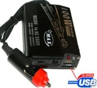 Inverter 100 Watt con porta usb integrata ideale per cellulare e