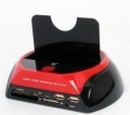 SATA HDD Docking Station con  lettore card+Hub