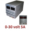 Alimentatore da banco autoprotetto 0-30V 5A con display