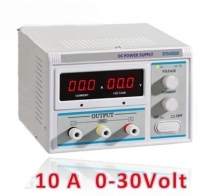 Alimentatore da banco autoprotetto 0-30V 10A con display
