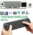 MINI TASTIERA WIRELESS RC12 CON TOUCHPAD PER MINI PC ANDROID TV BOX MOUSE PAD