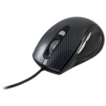 "MOUSE ATLANTIS ""CARBON 900"" USBᄌ ottico 5 tastiᄌ bottone switch 800/1200/1800 dpiᄌ finitura in Simil fibra di carbonioᄌ Black"