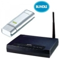 BUNDLE ZYXEL ZYX-BUNDLE-A5 ROUTER 660HW-T ADSL2 WIRELESS 54M + CLIENT WIRELESS USB G202 USB